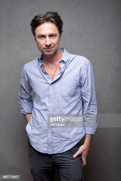 Actor Zach Braff is photographed at the Sundance Film Festival 2014 for Self Assignment on January 25 2014 in Park City Utah