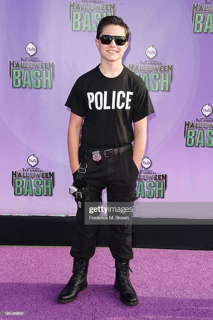 Actor Zach Callison attends Hub Network's First Annual Halloween Bash in Barker Hangar at the Santa Monica Airport on October 20, 2013 in Santa Monica, California.