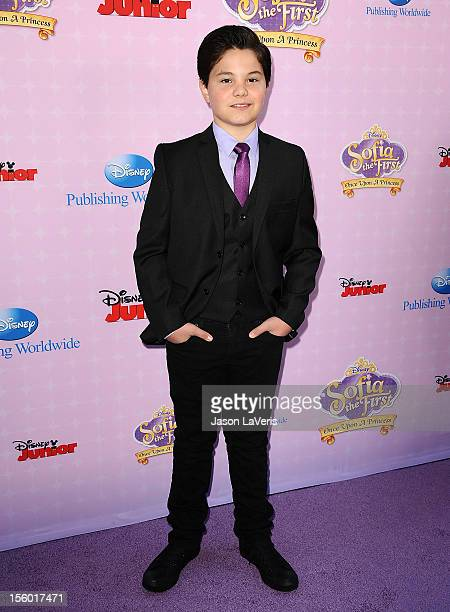 Actor Zach Callison attends the premiere of 'Sofia The First Once Upon a Princess' at Walt Disney Studios on November 10 2012 in Burbank California