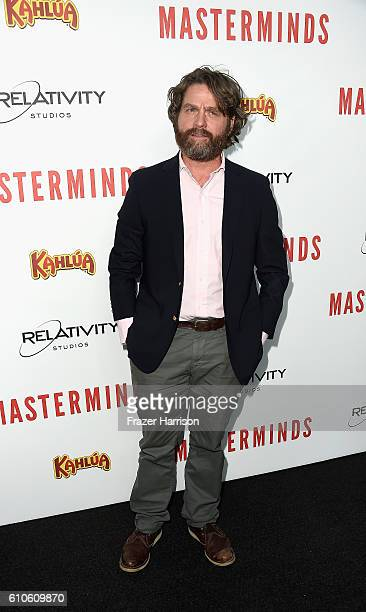 Actor Zach Galifanakis arrives at the Premiere of Relativity Media's 'Masterminds' at TCL Chinese Theatre on September 26 2016 in Hollywood California