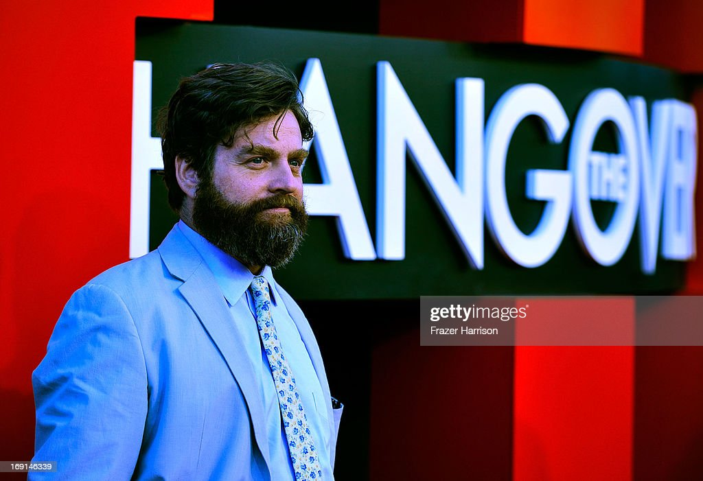 Actor Zach Galifianakis arrives at the premiere of Warner Bros. Pictures' 'Hangover Part 3' on May 20, 2013 in Westwood, California.