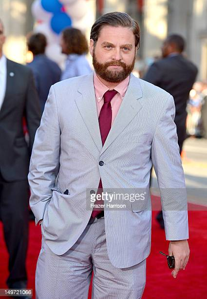 Actor Zach Galifianakis arrives at the premiere of Warner Bros Pictures' 'The Campaign' at Grauman's Chinese Theatre on August 2 2012 in Hollywood...