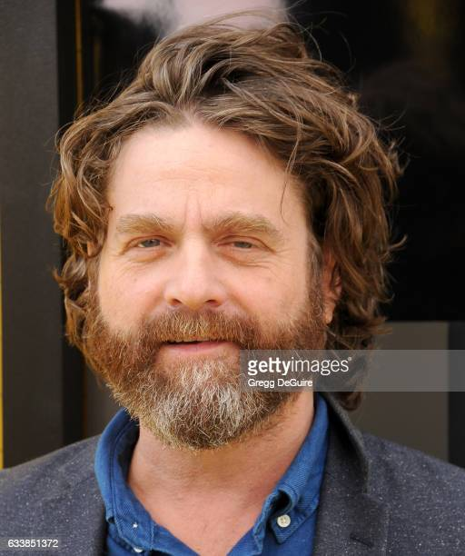 Actor Zach Galifianakis arrives at the premiere of Warner Bros Pictures' 'The LEGO Batman Movie' at Regency Village Theatre on February 4 2017 in...