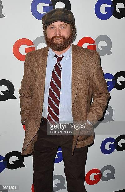 Actor Zach Galifianakis arrives for the 2009 'Men Of The Year' party at Chateau Marmont in Los Angeles California on November 18 2009 AFP PHOTO /...