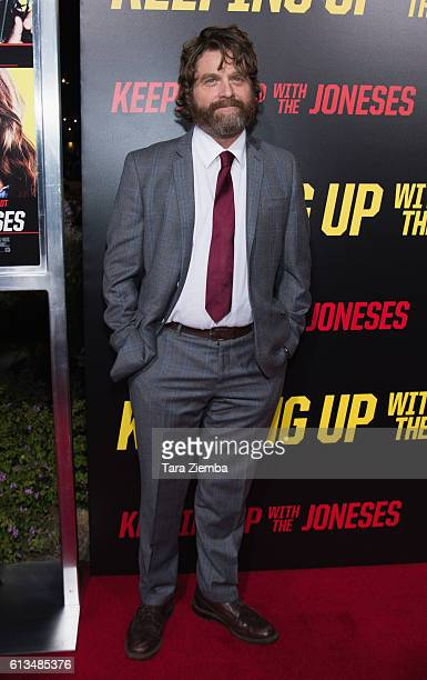 Actor Zach Galifianakis attends premiere of 20th Century Fox's 'Keeping up with the Joneses' at Fox Studios on October 8 2016 in Los Angeles...