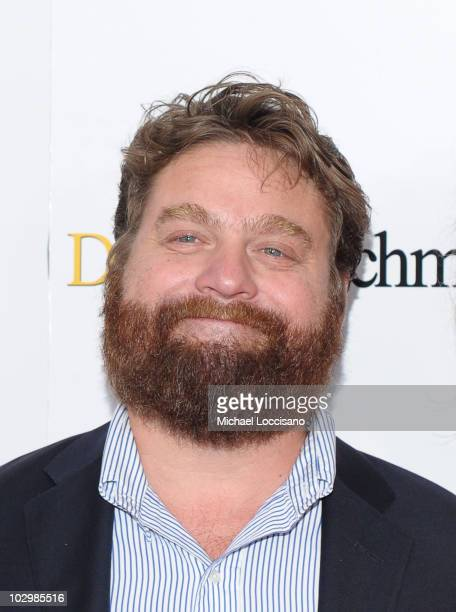 Actor Zach Galifianakis attends the 'Dinner For Schmucks' premiere at the Ziegfeld Theatre on July 19 2010 in New York City