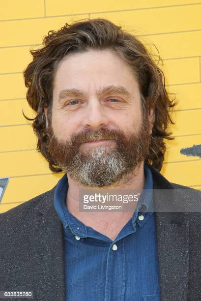 Actor Zach Galifianakis attends the Premiere of Warner Bros Pictures' 'The LEGO Batman Movie' at the Regency Village Theatre on February 4 2017 in...