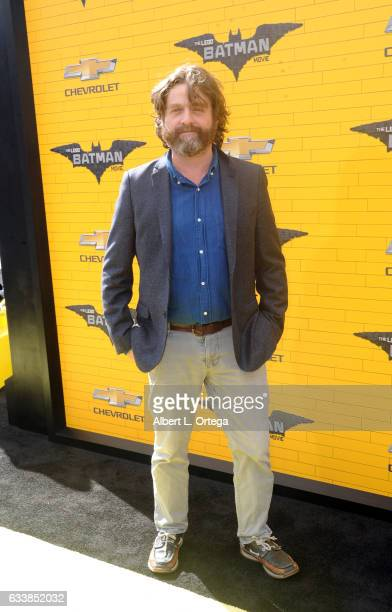 Actor Zach Galifinakis arrives for the Premiere Of Warner Bros Pictures' 'The LEGO Batman Movie' held at Regency Village Theatre on February 4 2017...