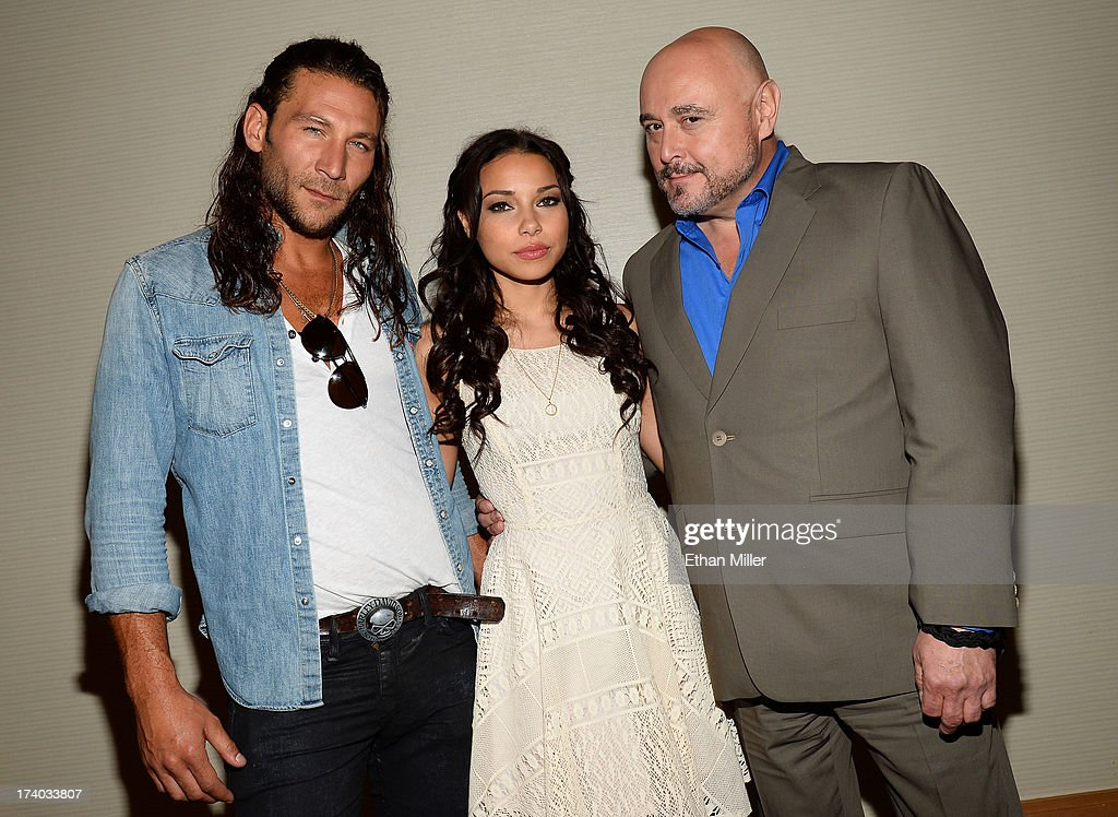 Actor Zach McGowan, actress Jessica Parker Kennedy and actor Mark Ryan from Starz's new series 'Black Sails' pose during Comic-Con International 2013 at the Hilton San Diego Bayfront Hotel on July 19, 2013 in San Diego, California.