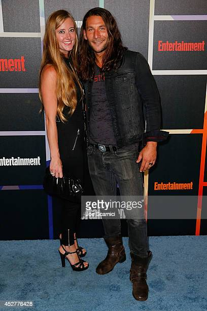 Actor Zach McGowan and Emily Johnson arrive to Entertainment Weekly's Annual Comic Con Celebration during ComicCon International 2014 at Float at...