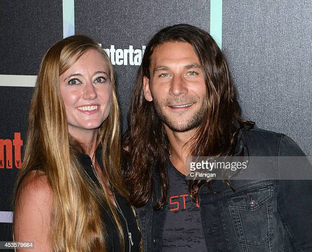 Actor Zach McGowan and his wife Emily McGowan attend Entertainment Weekly's Annual ComicCon Celebration at Float at Hard Rock Hotel San Diego on July...