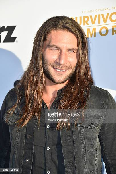 Actor Zach Mcgowan arrives at the Premiere Of Starz 'Survivor's Remorse' at Wallis Annenberg Center for the Performing Arts on September 23 2014 in...