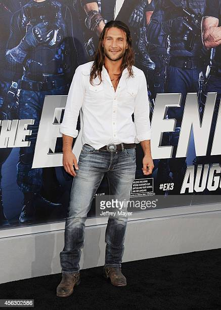 Actor Zach McGowan arrives at the 'Sin City A Dame To Kill For' Los Angeles Premiere at TCL Chinese Theatre on August 19 2014 in Hollywood California