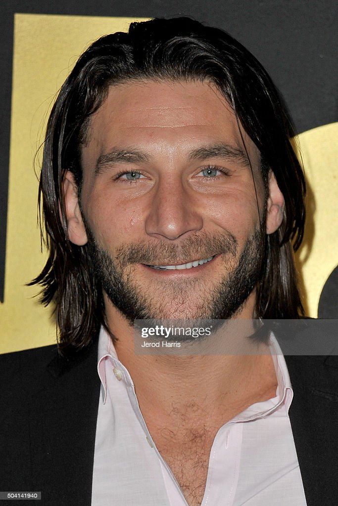 Actor <a gi-track='captionPersonalityLinkClicked' href=/galleries/search?phrase=Zach+McGowan&family=editorial&specificpeople=5583928 ng-click='$event.stopPropagation()'>Zach McGowan</a> arrives at the STARZ Pre-Golden Globe Celebration at Chateau Marmont on January 8, 2016 in Los Angeles, California.