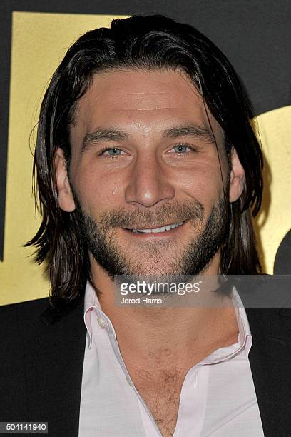Actor Zach McGowan arrives at the STARZ PreGolden Globe Celebration at Chateau Marmont on January 8 2016 in Los Angeles California