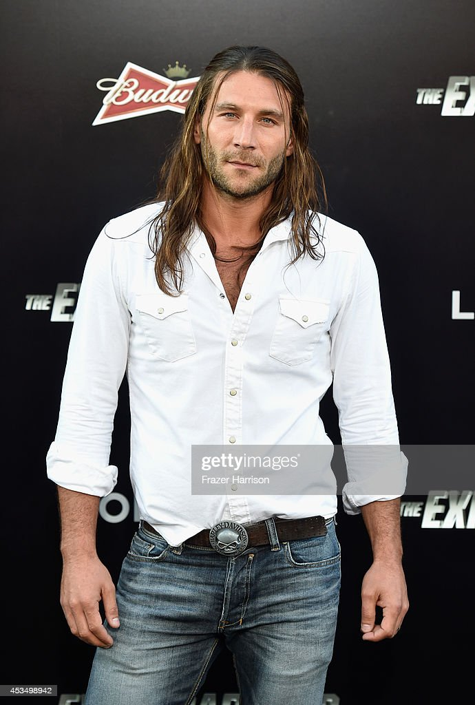 Actor <a gi-track='captionPersonalityLinkClicked' href=/galleries/search?phrase=Zach+McGowan&family=editorial&specificpeople=5583928 ng-click='$event.stopPropagation()'>Zach McGowan</a> attends Lionsgate Films' 'The Expendables 3' premiere at TCL Chinese Theatre on August 11, 2014 in Hollywood, California.