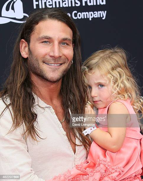 Actor Zach McGowan attends the premiere of Disney's 'Planes Fire Rescue' at the El Capitan Theatre on July 15 2014 in Hollywood California