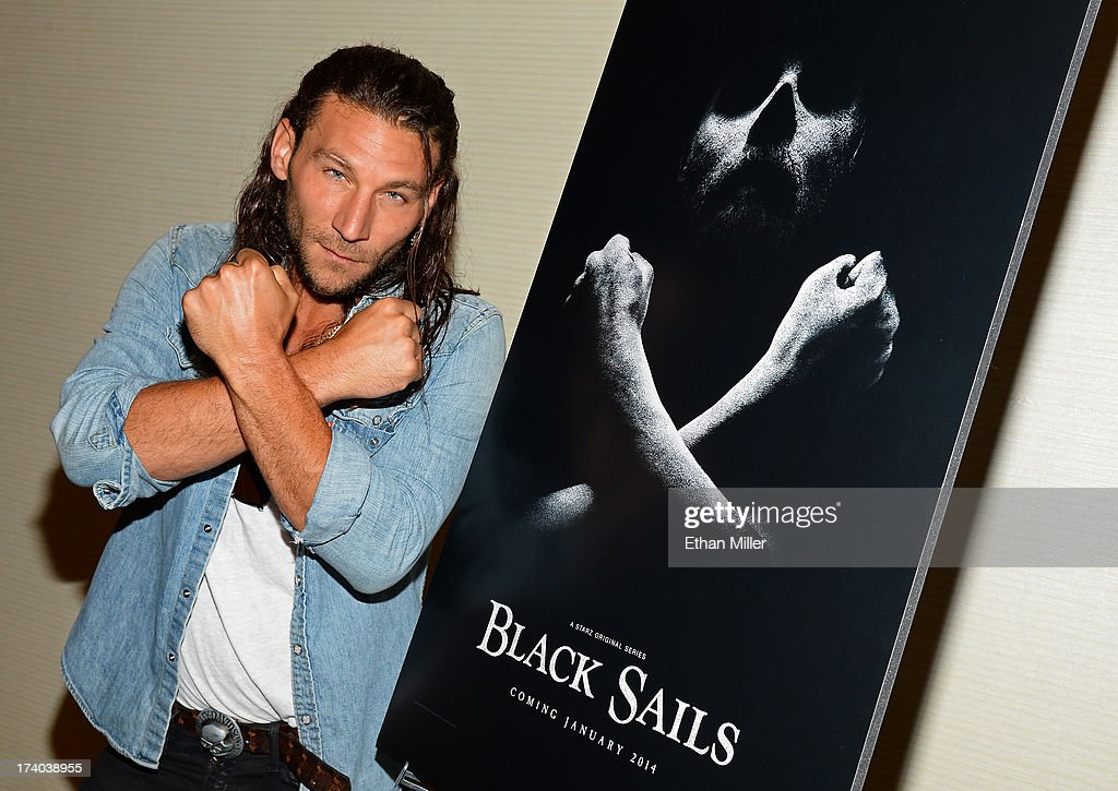 Actor Zach McGowan from Starz's new series 'Black Sails' poses during Comic-Con International 2013 at the Hilton San Diego Bayfront Hotel on July 19, 2013 in San Diego, California.