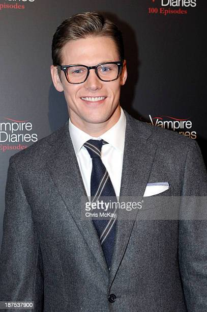 Actor Zach Roerig attends The Vampire Diaries 100th Episode Celebration on November 9 2013 in Atlanta Georgia