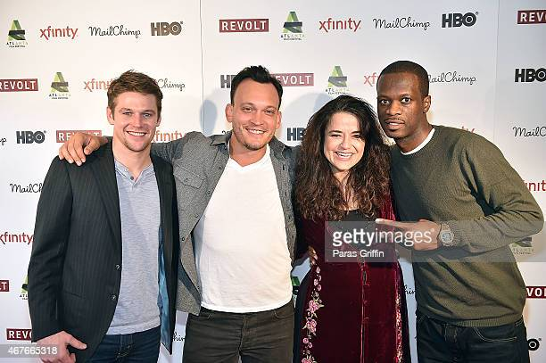 Actor Zach Roerig director Ben Patterson producer Karyn Rachtman and producer Pras Michel attend the 'Sweet Micky For President' event during the...