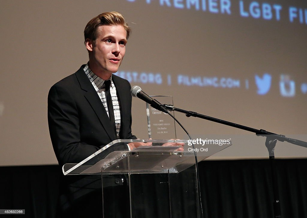 Actor <a gi-track='captionPersonalityLinkClicked' href=/galleries/search?phrase=Zachary+Booth&family=editorial&specificpeople=4839749 ng-click='$event.stopPropagation()'>Zachary Booth</a> attends the 'Futuro Beach' Opening Night Screening - 2014 Newfest at The Film Society of Lincoln Center, Walter Reade Theatre on July 24, 2014 in New York City.