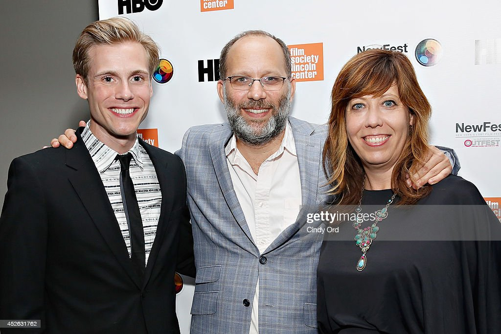 Actor <a gi-track='captionPersonalityLinkClicked' href=/galleries/search?phrase=Zachary+Booth&family=editorial&specificpeople=4839749 ng-click='$event.stopPropagation()'>Zachary Booth</a>, filmmaker <a gi-track='captionPersonalityLinkClicked' href=/galleries/search?phrase=Ira+Sachs&family=editorial&specificpeople=2260924 ng-click='$event.stopPropagation()'>Ira Sachs</a> and Outfest Executive Director Kirsten Schaffer attend the 'Futuro Beach' Opening Night Screening - 2014 Newfest at The Film Society of Lincoln Center, Walter Reade Theatre on July 24, 2014 in New York City.