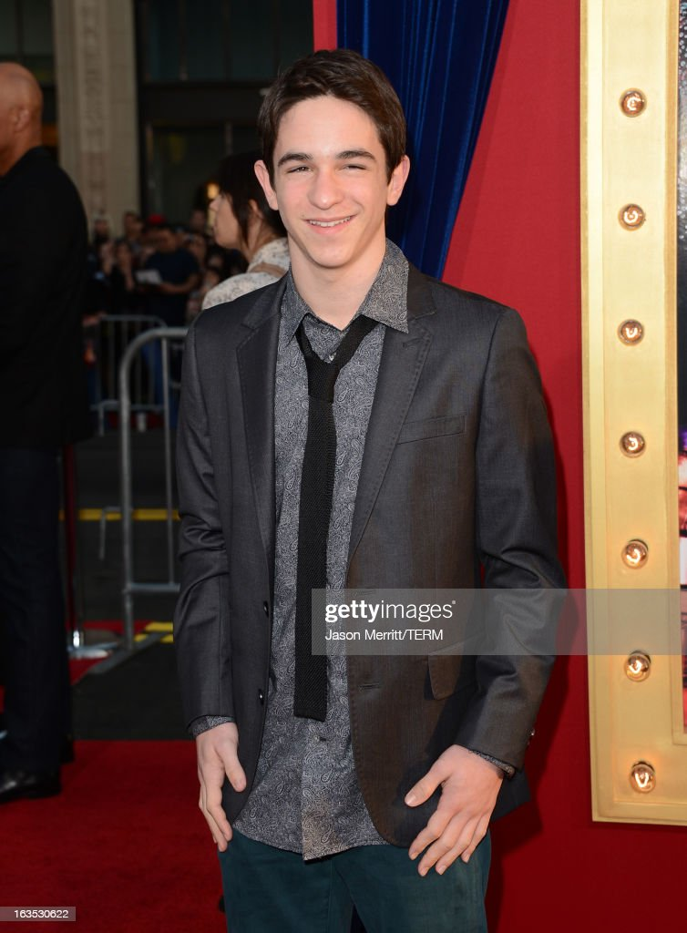 Actor Zachary Gordon attends the premiere of Warner Bros. Pictures' 'The Incredible Burt Wonderstone' at TCL Chinese Theatre on March 11, 2013 in Hollywood, California.