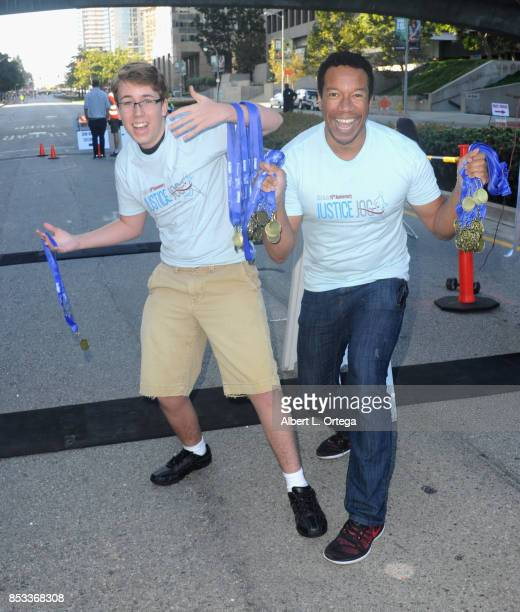 Actor Zachary Haven and actor Rico E Anderson participate in the 10th Annual Justice Jog 5/10K Run Walk Hosted By GLAALA held on September 24 2017 in...