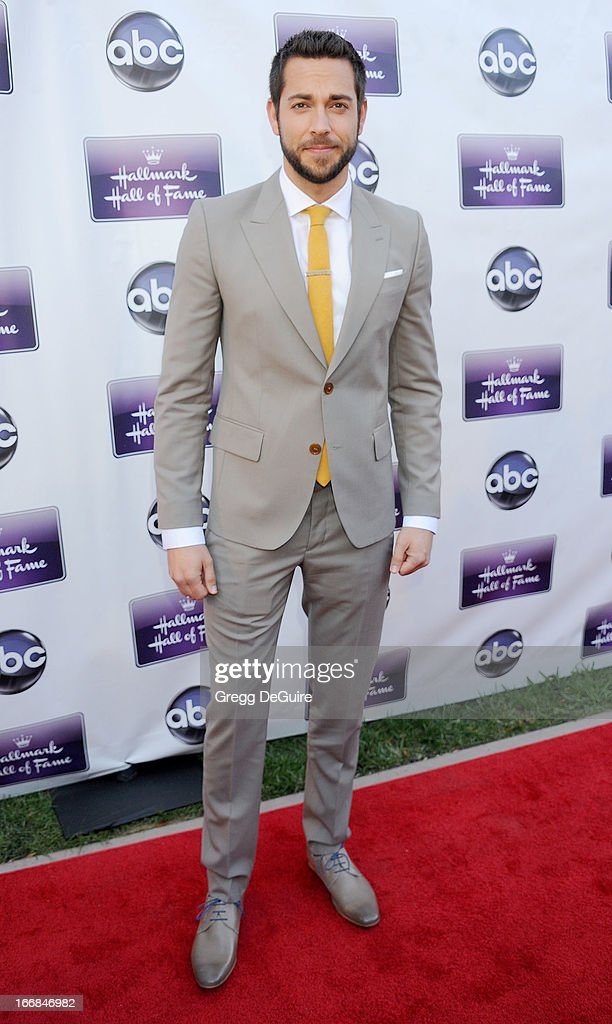 Actor Zachary Levi arrives at Disney ABC Television and the Hallmark Hall Of Fame's premiere of 'Remembering Sunday' at Fox Studio Lot on April 17, 2013 in Century City, California.