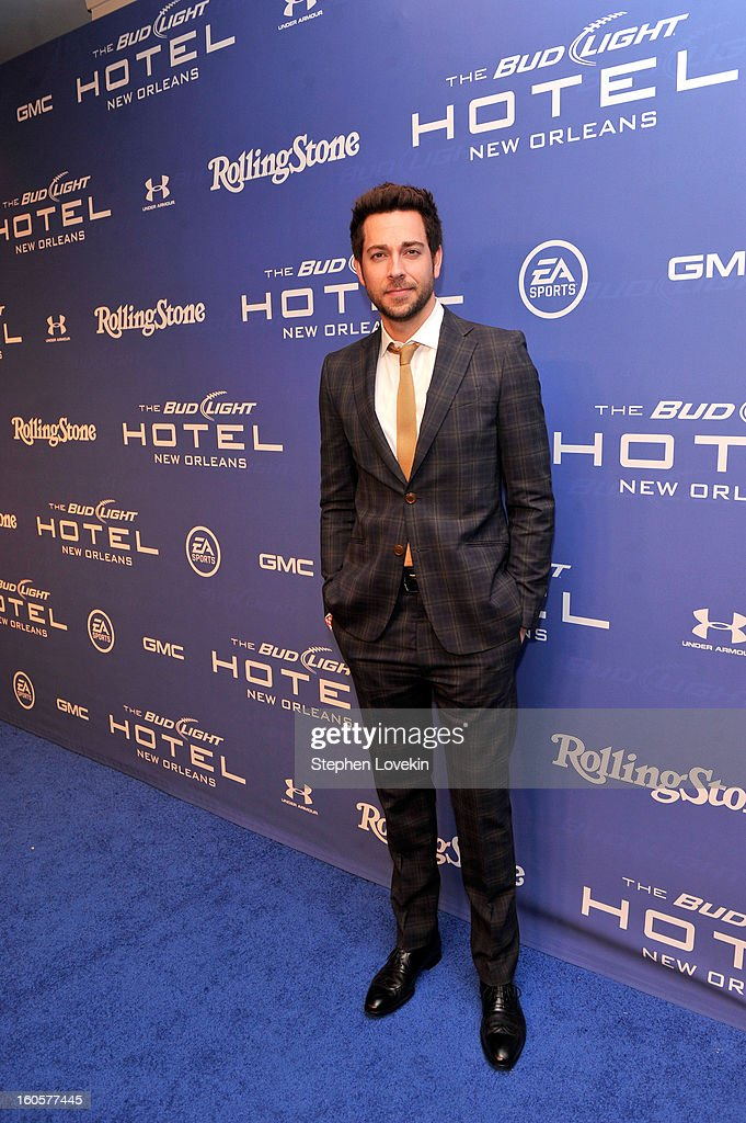 Actor Zachary Levi attends Bud Light Presents Stevie Wonder and Gary Clark Jr. at the Bud Light Hotel on February 2, 2013 in New Orleans, Louisiana.