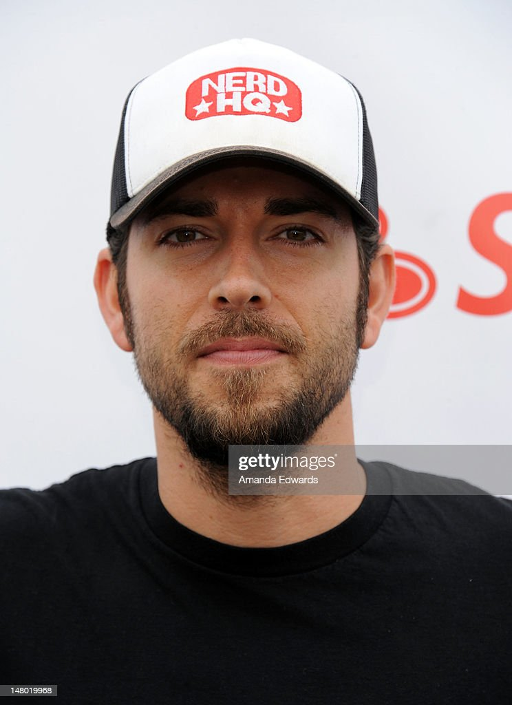 Actor <a gi-track='captionPersonalityLinkClicked' href=/galleries/search?phrase=Zachary+Levi&family=editorial&specificpeople=242766 ng-click='$event.stopPropagation()'>Zachary Levi</a> attends Course of The Force - Inaugural 'Star Wars' Lightsaber Relay at Santa Monica Pier on July 7, 2012 in Santa Monica, California.