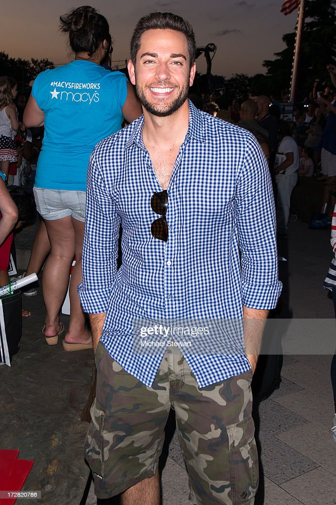 Actor <a gi-track='captionPersonalityLinkClicked' href=/galleries/search?phrase=Zachary+Levi&family=editorial&specificpeople=242766 ng-click='$event.stopPropagation()'>Zachary Levi</a> attends the 37th annual Macy's 4th of July Fireworks over the Hudson River on July 4, 2013 in New York City.