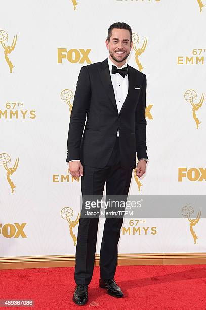 Actor Zachary Levi attends the 67th Annual Primetime Emmy Awards at Microsoft Theater on September 20 2015 in Los Angeles California
