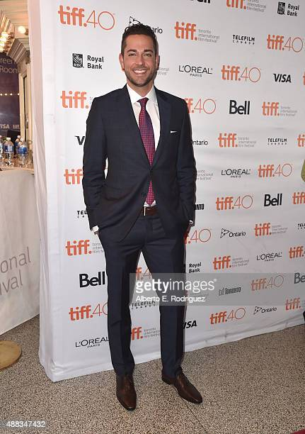 Actor Zachary Levi attends the 'Heroes Reborn' premiere during the 2015 Toronto International Film Festival at the Winter Garden Theatre on September...