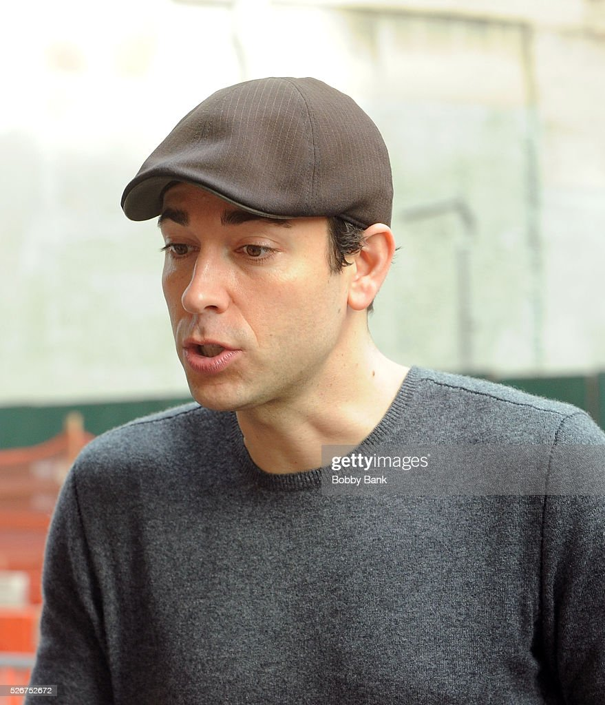 Actor Zachary Levi exits 'She Loves Me' at the Roundabout Theatre on April 30, 2016 in New York City.