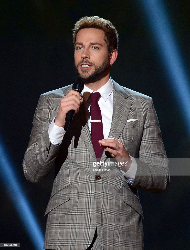 Actor Zachary Levi onstage during Spike TV's 10th annual Video Game Awards at Sony Studios on December 7 2012 in Culver City California