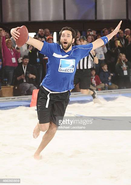 Actor Zachary Levi participates in the DirecTV Beach Bowl at Pier 40 on February 1 2014 in New York City