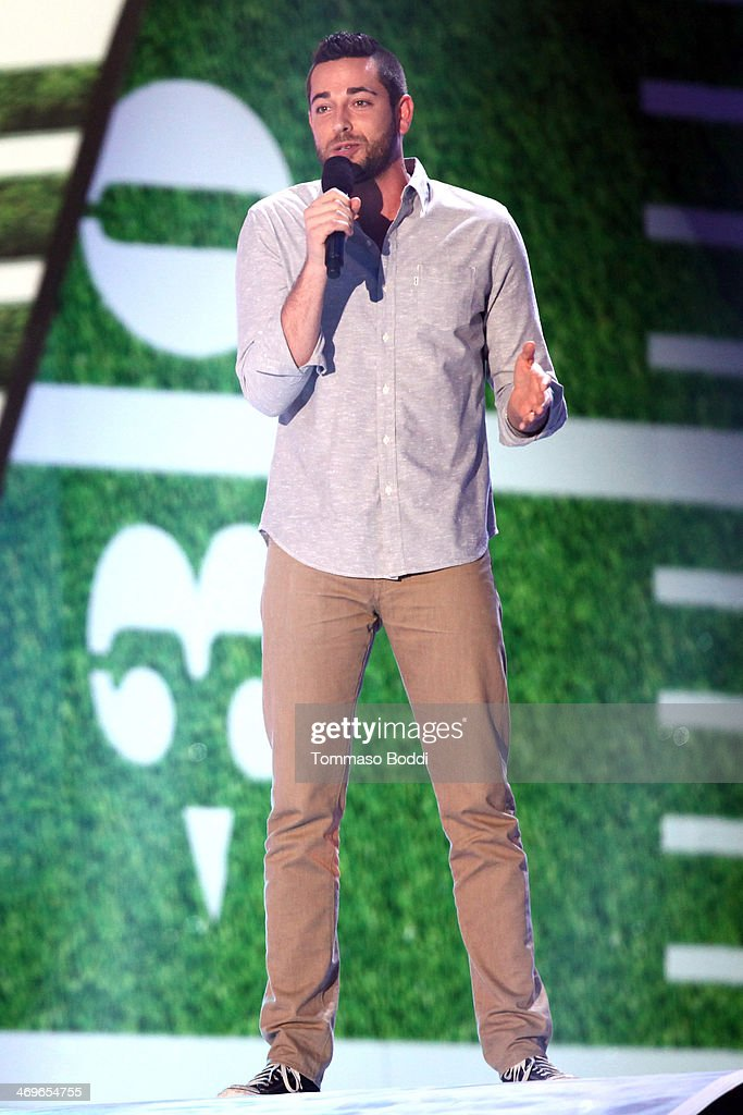 Actor Zachary Levi speaks onstage during the 4th Annual Cartoon Network Hall Of Game Awards held at the Barker Hangar on February 15, 2014 in Santa Monica, California.
