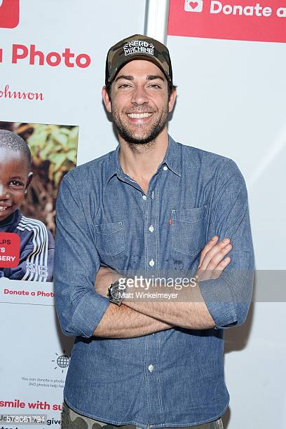 Actor Zachary Levi stops by the Johnson Johnson 'Donate a Photo' booth at NERD HQ to help raise money for Operation Smileon July 21 2016 in San Diego...
