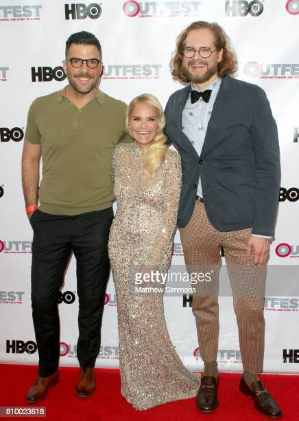 Actor Zachary Quinto actress Kristin Chenoweth and writer/producer Bryan Fuller attend the opening night gala of 'God's Own Country' at the 2017...