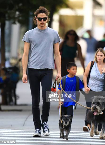 Actor Zachary Quinto and Miles McMillan are seen walking in Soho on September 28 2015 in New York City