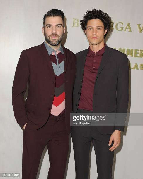 Actor Zachary Quinto and Miles McMillan arrive at the Hammer Museum Gala In The Garden at Hammer Museum on October 14 2017 in Westwood California