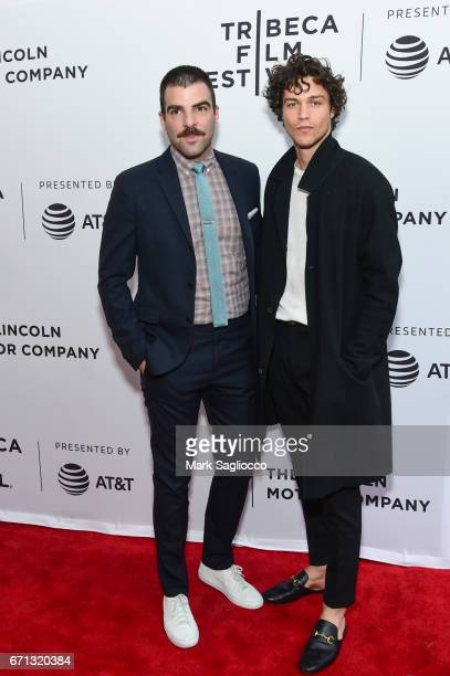 Actor Zachary Quinto and Miles McMillan attend the 2017 Tribeca Film Festival 'Aardvark' at SVA Theatre on April 21 2017 in New York City