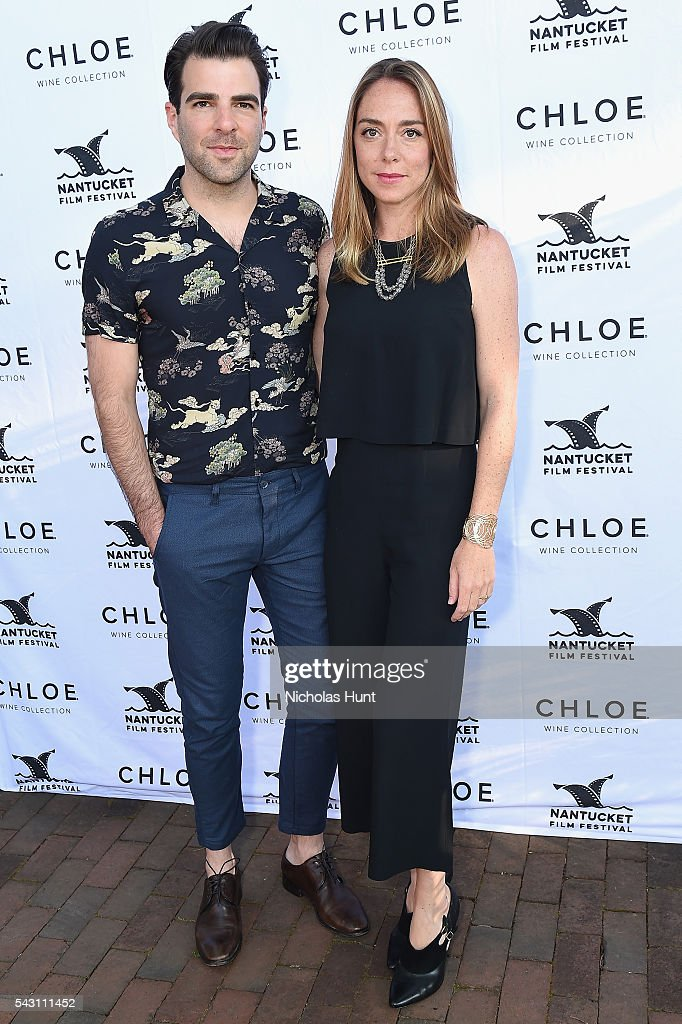 Actor Zachary Quinto (L) and Writer Sian Heder attend the Screenwriters Tribute at the 2016 Nantucket Film Festival Day 4 on June 25, 2016 in Nantucket, Massachusetts.