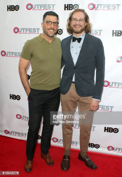 Actor Zachary Quinto and writer/producer Bryan Fuller attend the opening night gala of 'God's Own Country' at the 2017 Outfest Los Angeles LGBT Film...