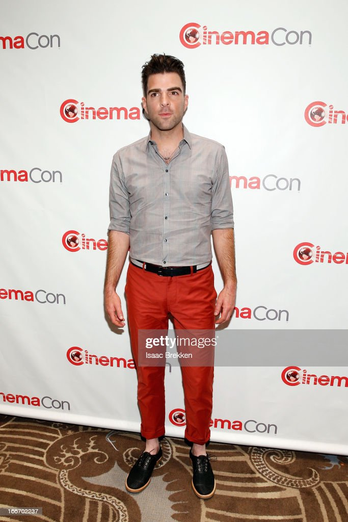 Actor Zachary Quinto arrives at a Paramount Pictures presentation to promote his upcoming film, 'Star Trek Into Darkness' during CinemaCon at Caesars Palace on April 15, 2013 in Las Vegas, Nevada.