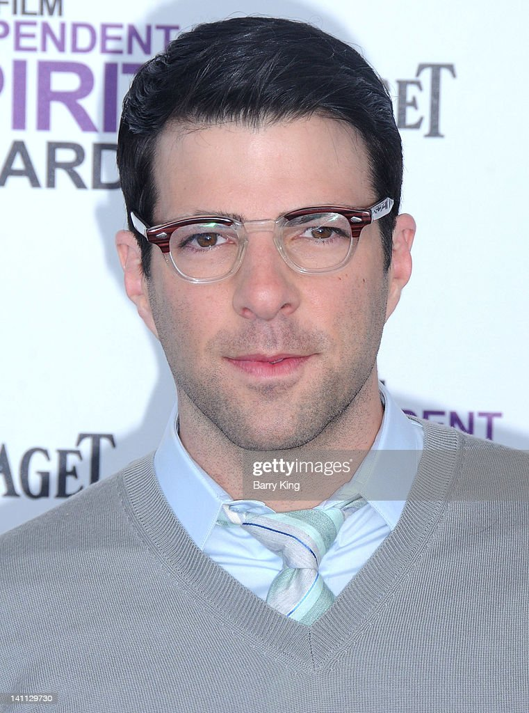 Actor Zachary Quinto arrives at the 2012 Film Independent Spirit Awards at Santa Monica Pier on February 25, 2012 in Santa Monica, California.