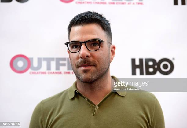Actor Zachary Quinto arrives at the 2017 Outfest Los Angeles LGBT Film Festival Opening Night Gala of 'God's Own Country' at the Orpheum Theatre on...