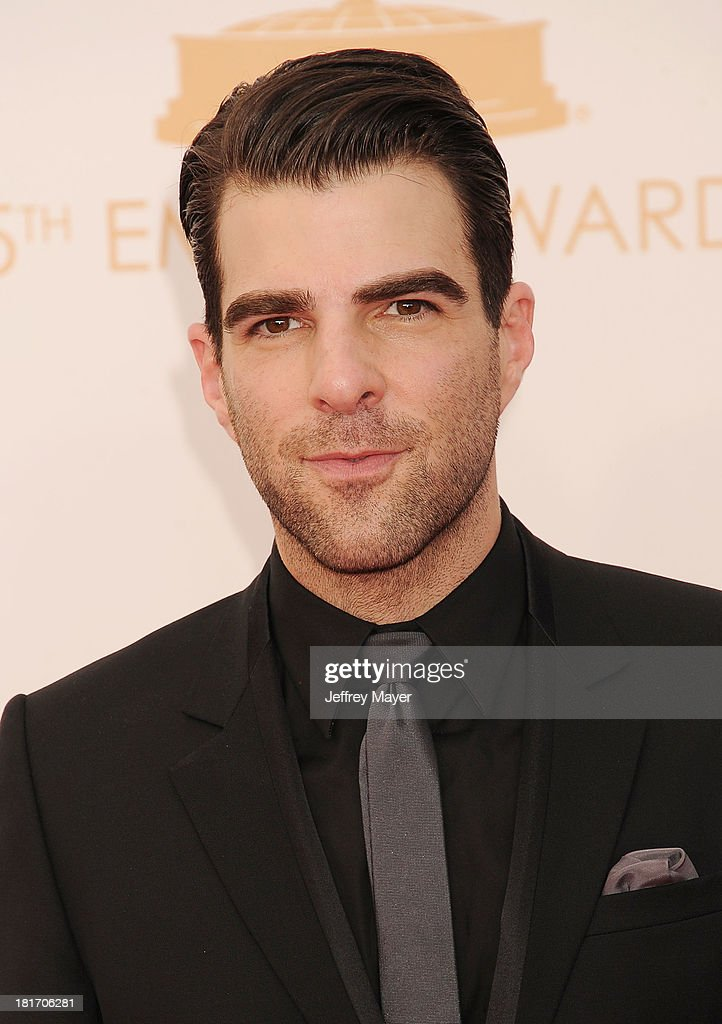 Actor Zachary Quinto arrives at the 65th Annual Primetime Emmy Awards at Nokia Theatre LA Live on September 22 2013 in Los Angeles California