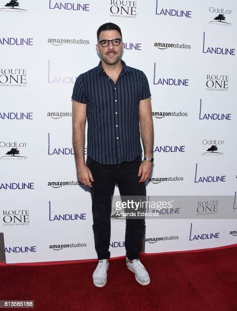 Actor Zachary Quinto arrives at the premiere of Amazon Studios' 'Landline' at the ArcLight Hollywood on July 12 2017 in Hollywood California